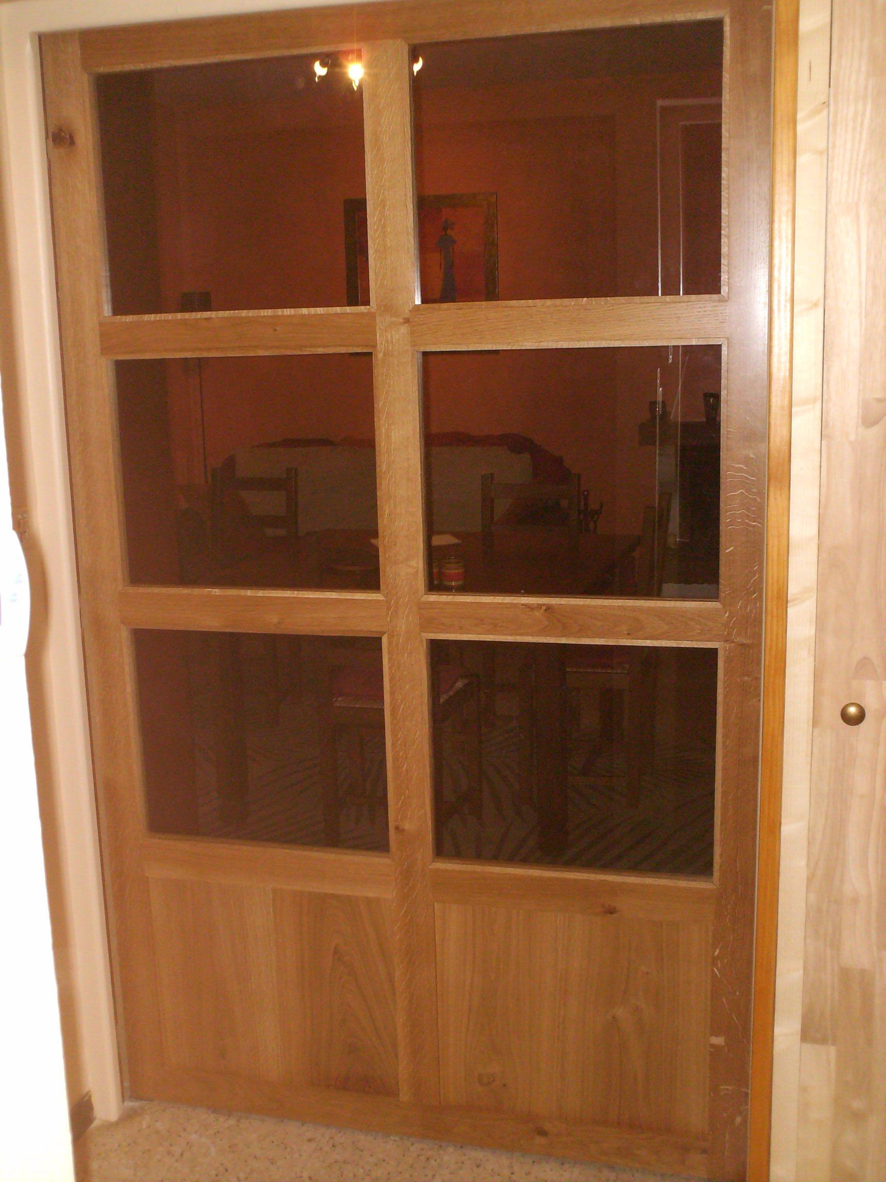 Portes int rieures pleines et vitr es ab menuiserie for Portes coulissantes vitrees interieures